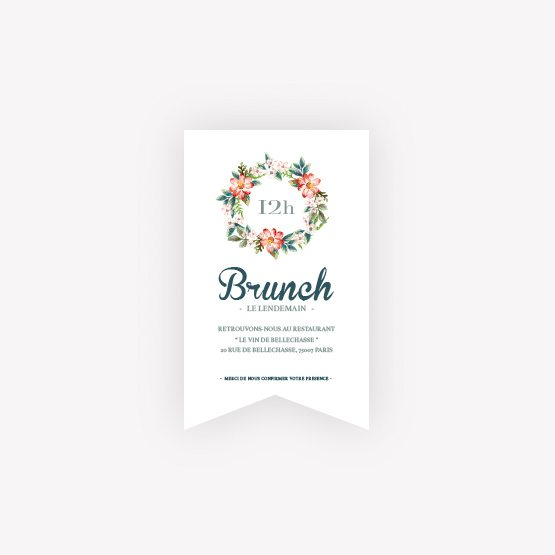 invitation brunch Fleur Vintage