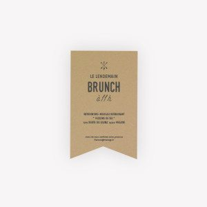carte invitation brunch mariage