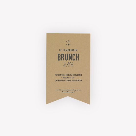 invitation brunch Nature