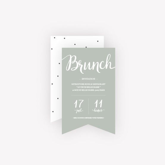 carte brunch elegant