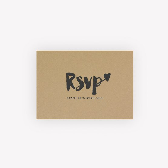 carton RSVP Love Kraft