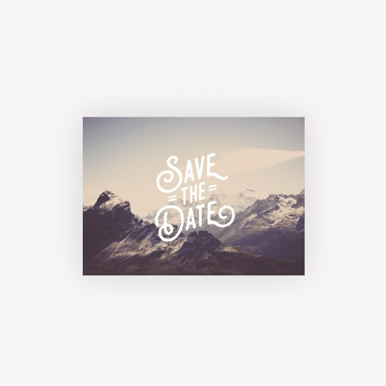 carte save the date nature