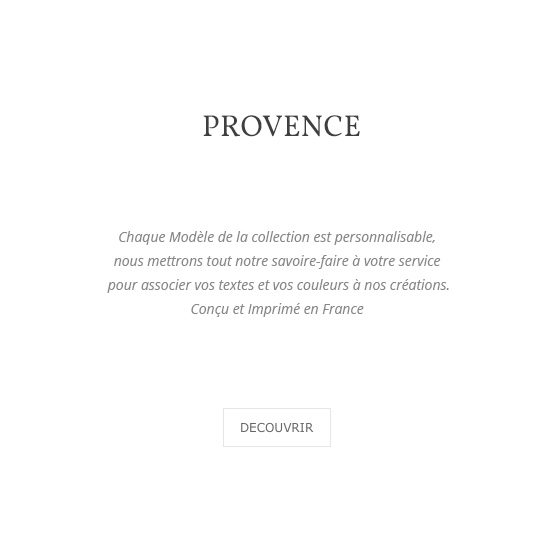 collection Provence