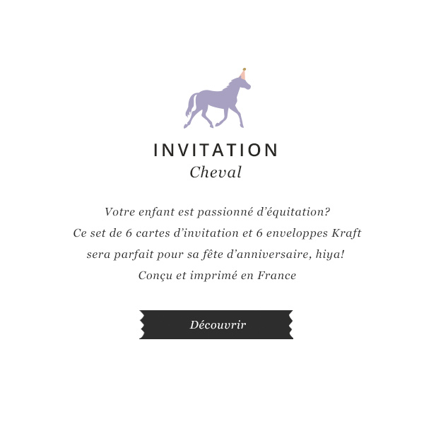 invitation cheval