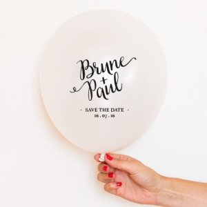 ballon save the date