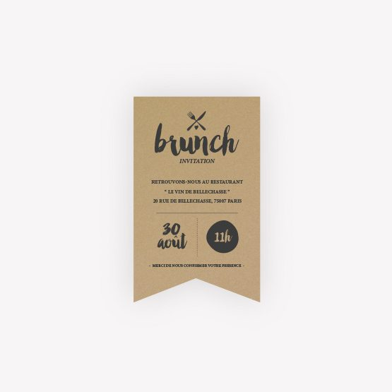 invitation brunch Love Kraft