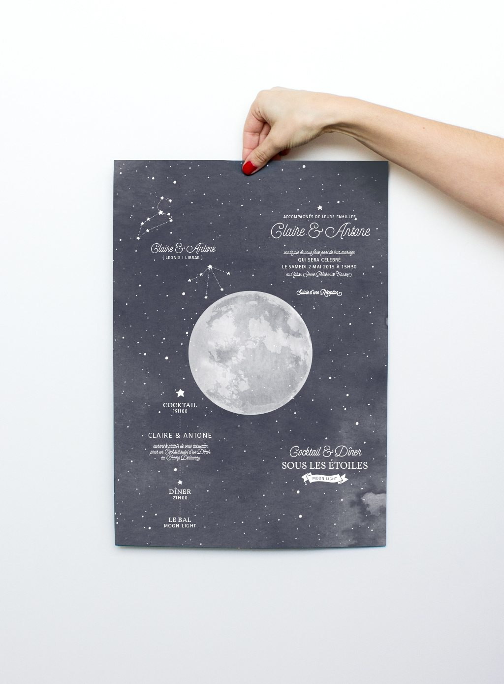 l'affiche faire-part moon