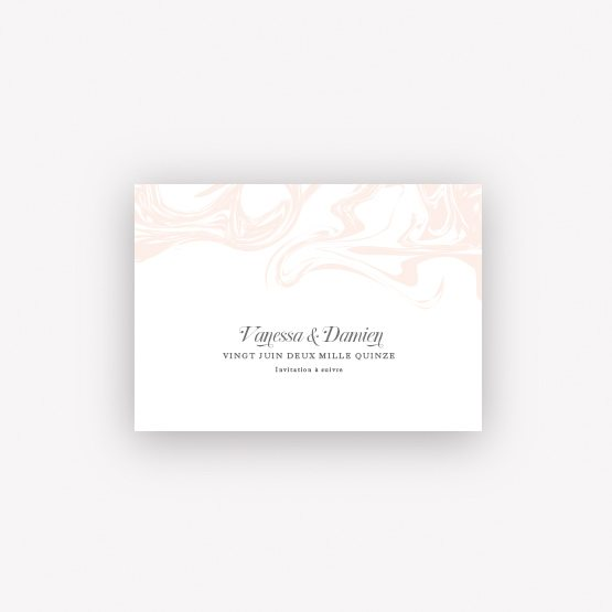 carte save the date marble
