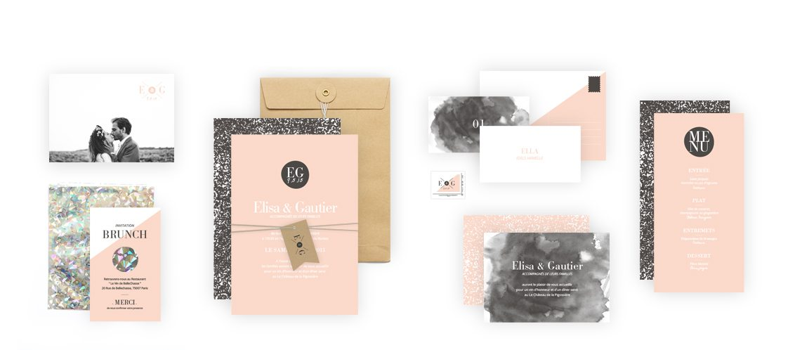Collection Faire-Part Mariage Graphik
