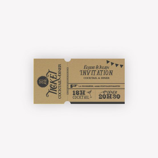 ticket d'invitation