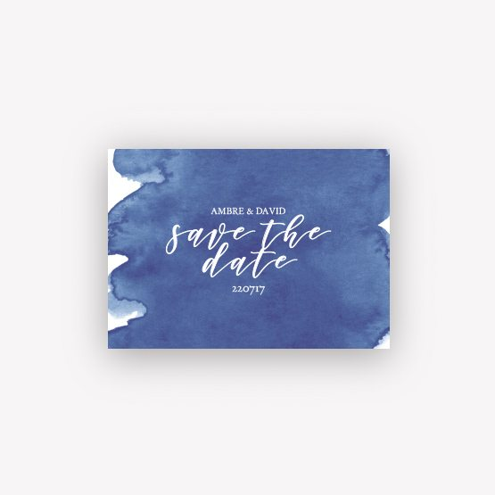 carte save the date aquarelle