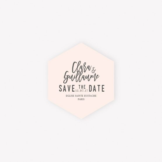 carte save the date moderne