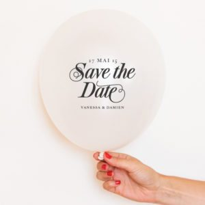 ballon save the date personnalisable