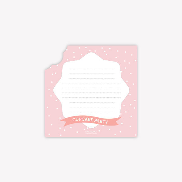 carte d'invitation cupcake