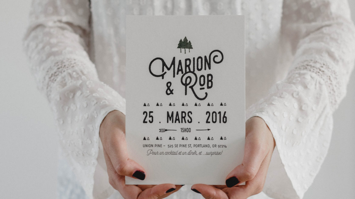 collection mariage nature