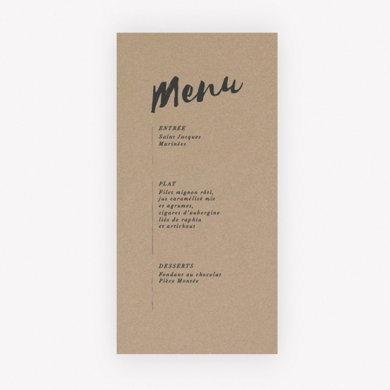 menu ethnique chic