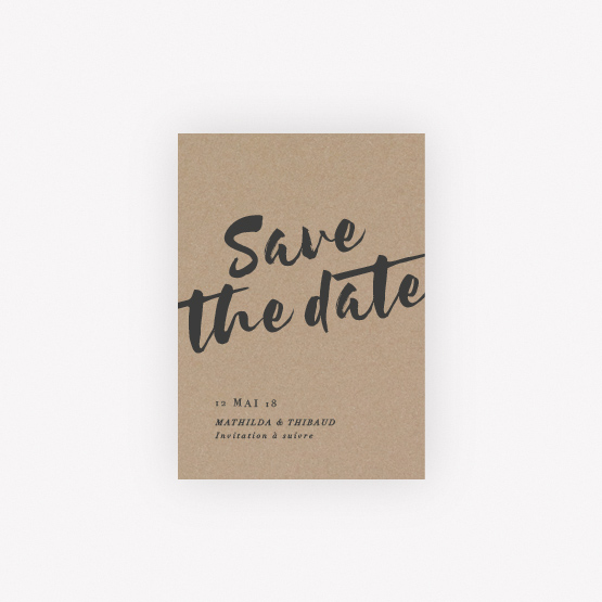 Carte save the date Ethnique Chic